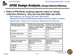 afee design analysis charge collection efficiency