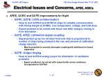 electrical issues and concerns afee asics