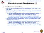 electrical system requirements 1