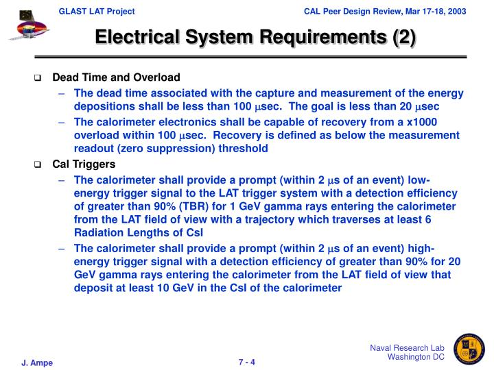 Electrical System Requirements (2)