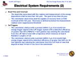 electrical system requirements 2