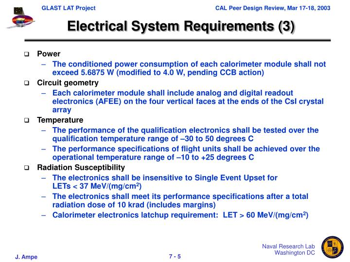 Electrical System Requirements (3)