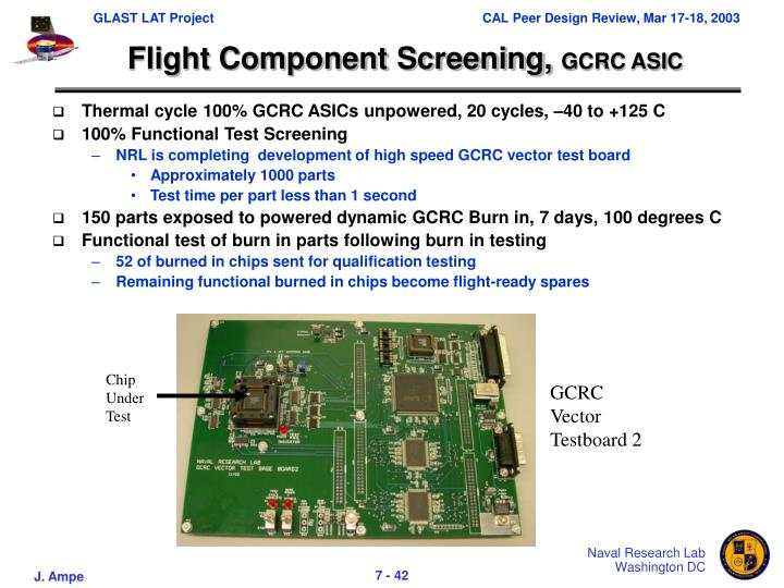 Flight Component Screening,