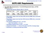 gcfe asic requirements