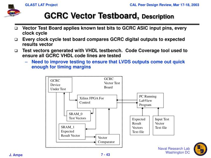 GCRC Vector Test Board