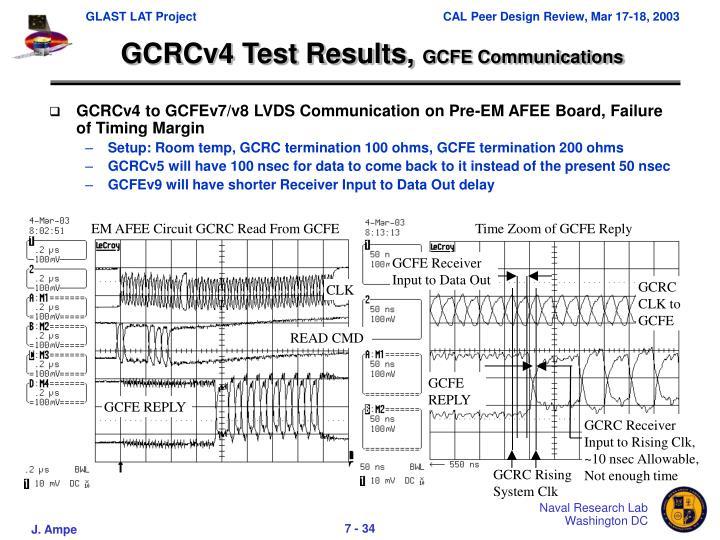 GCRCv4 Test Results,