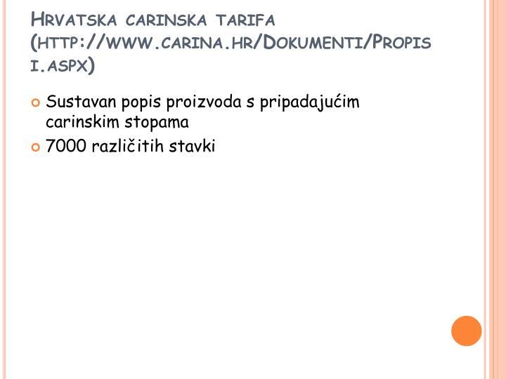 Hrvatska carinska tarifa