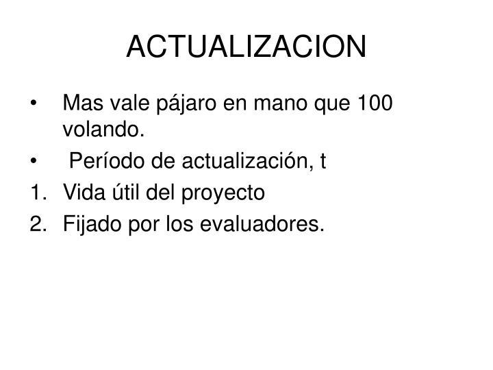 ACTUALIZACION