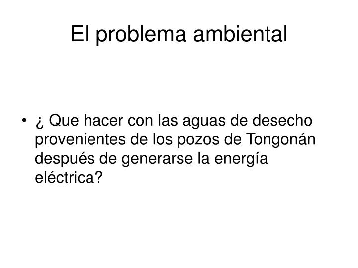 El problema ambiental