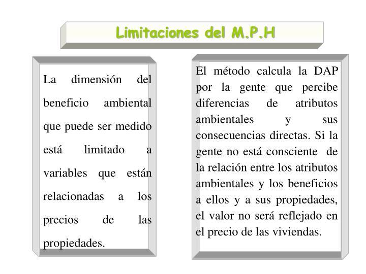 Limitaciones del M.P.H