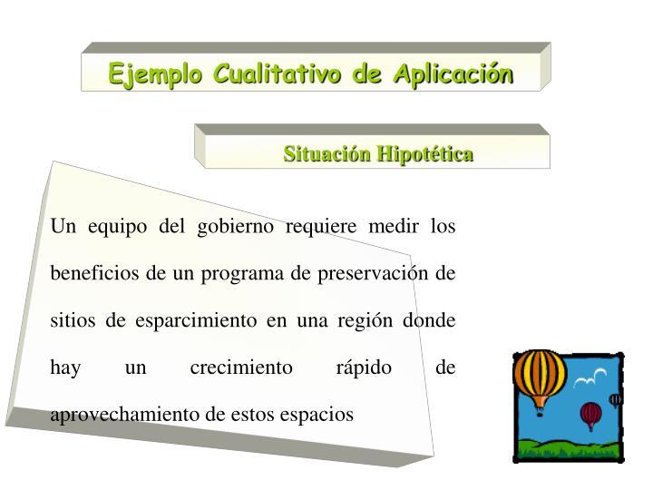 Ejemplo Cualitativo de Aplicación