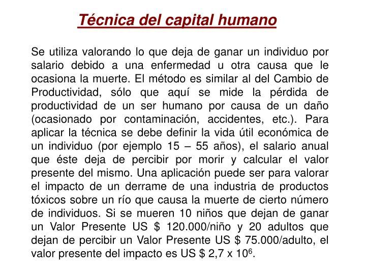 Técnica del capital humano