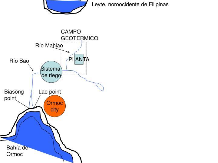 Leyte, noroocidente de Filipinas
