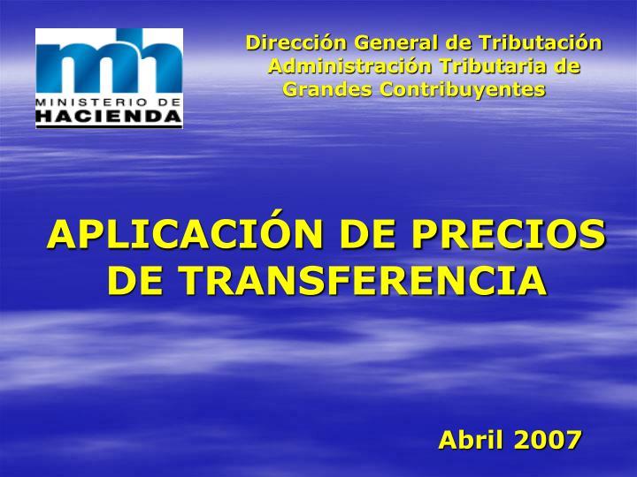 Dirección General de Tributación