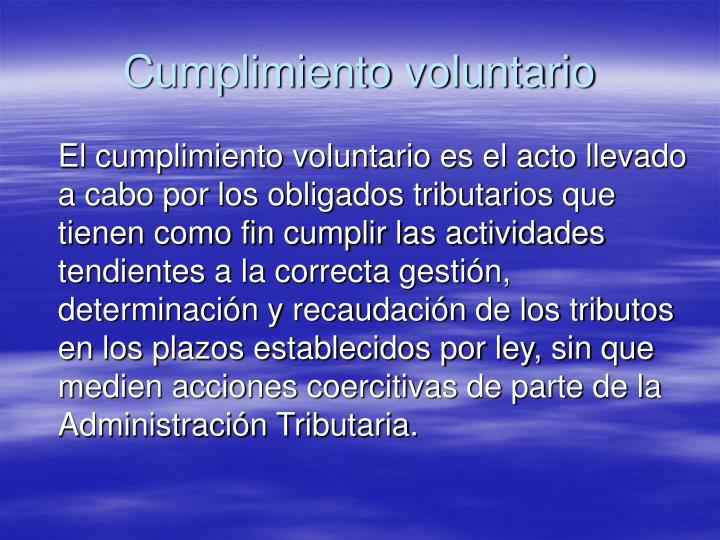 Cumplimiento voluntario
