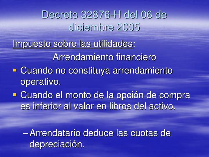 Decreto 32876-H del 06 de