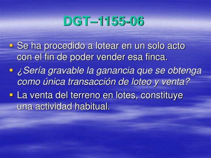 DGT–1155-06