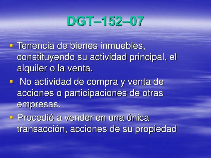 DGT–152–07
