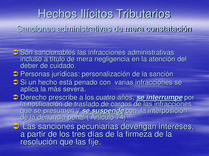 Hechos Ilícitos Tributarios