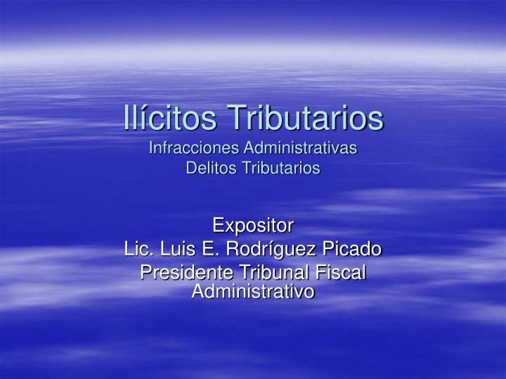 Ilícitos Tributarios