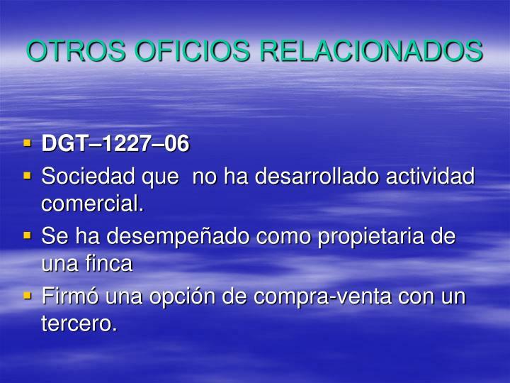 OTROS OFICIOS RELACIONADOS