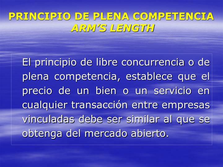 PRINCIPIO DE PLENA COMPETENCIA