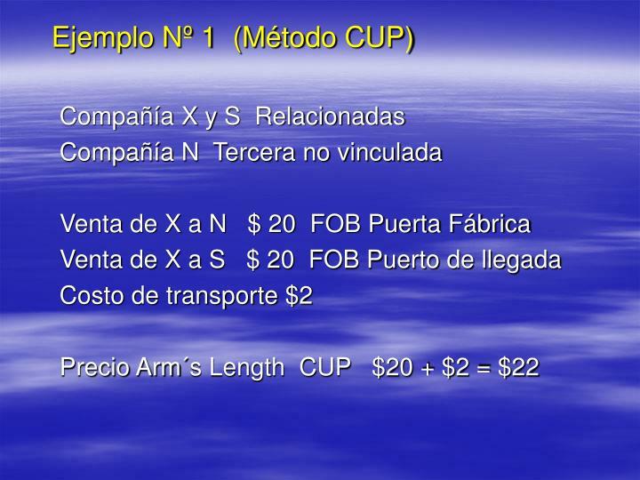 Ejemplo Nº 1  (Método CUP)