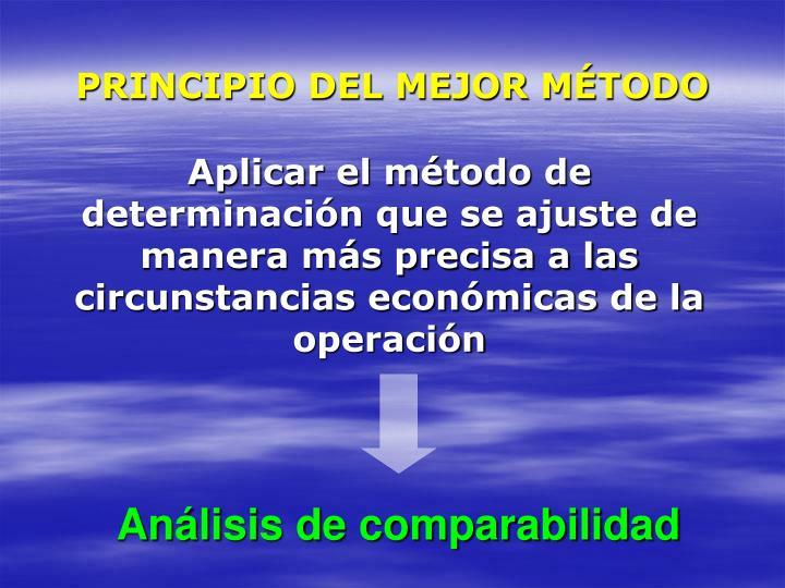 PRINCIPIO DEL MEJOR MÉTODO