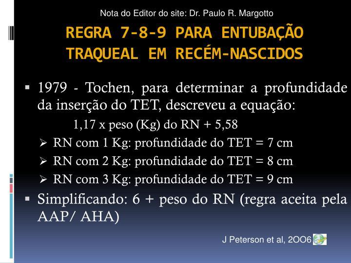 Nota do Editor do site: Dr. Paulo R. Margotto