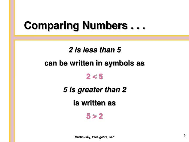 Comparing Numbers . . .