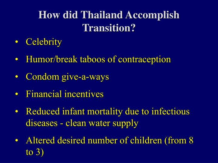 How did Thailand Accomplish Transition?