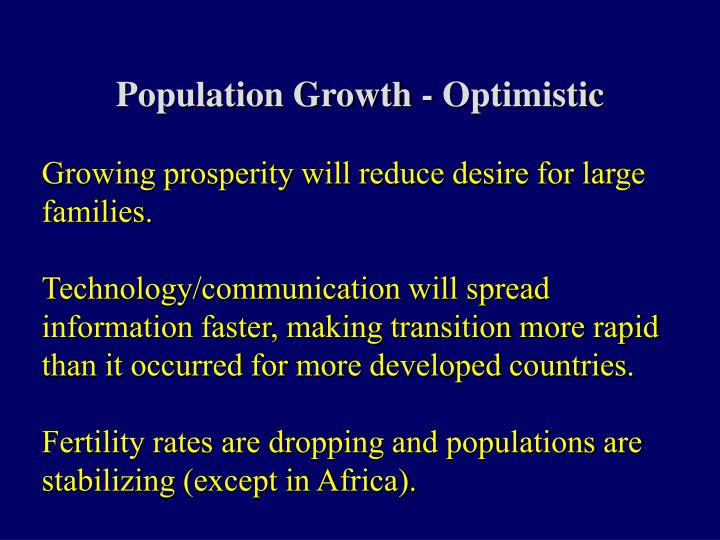 Population Growth - Optimistic