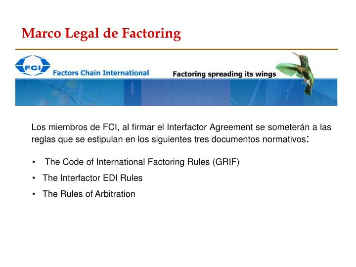 Marco Legal de Factoring