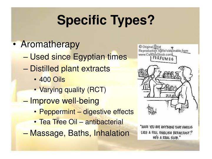 Specific Types?
