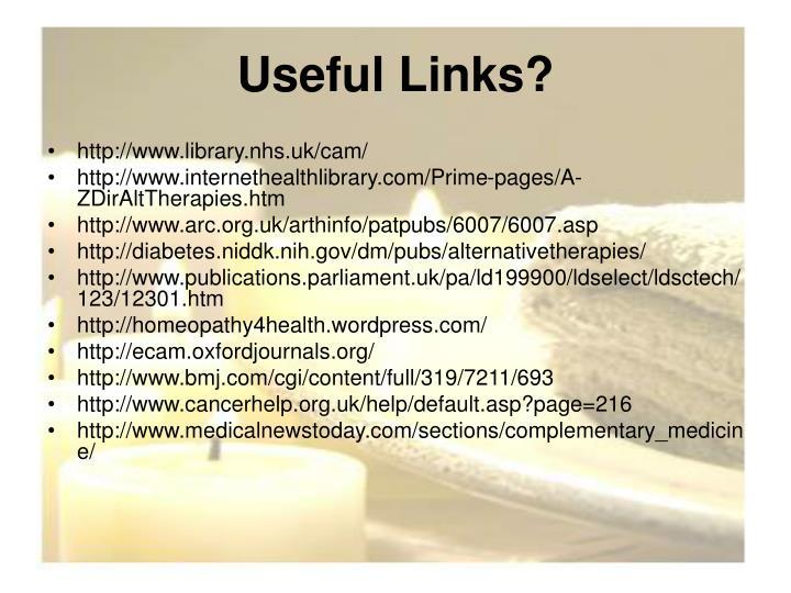 Useful Links?