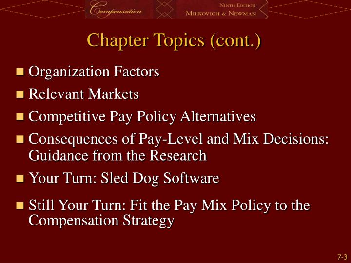 Chapter topics cont