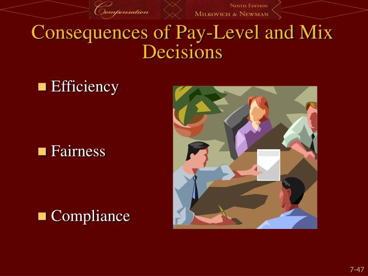 Consequences of Pay-Level and Mix