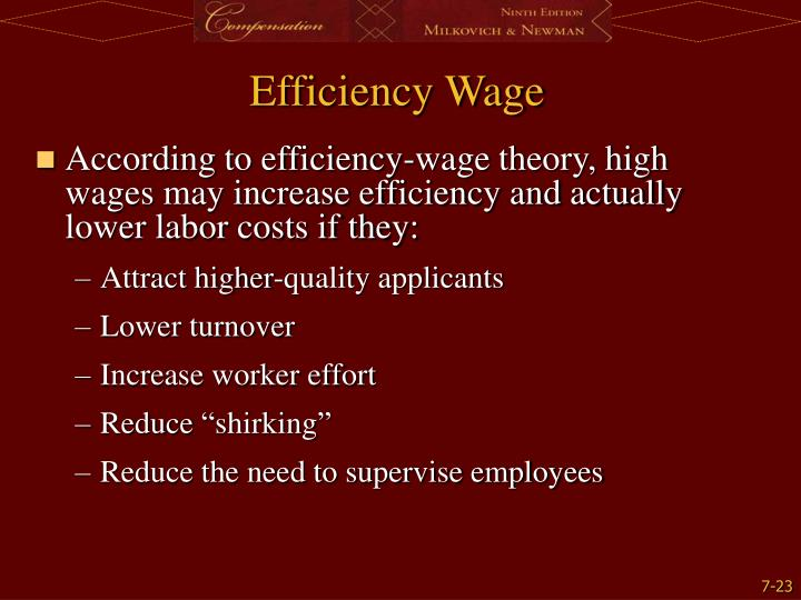 Efficiency Wage