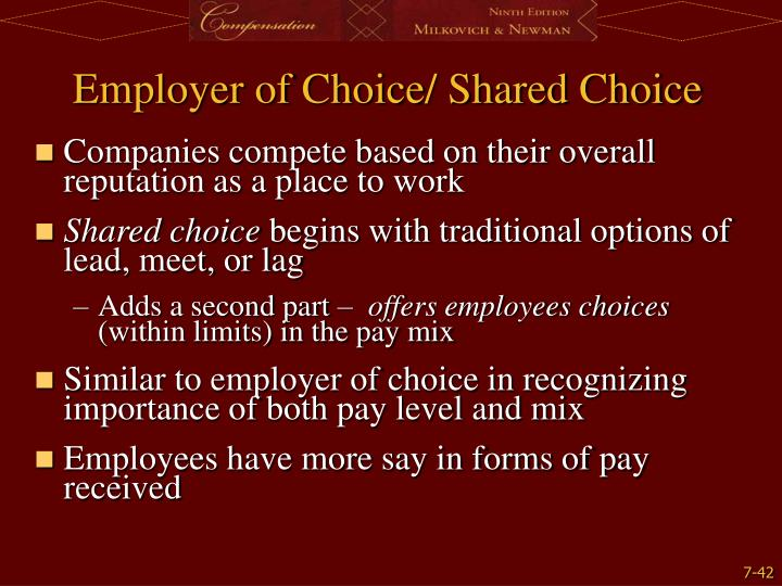 Employer of Choice/ Shared Choice