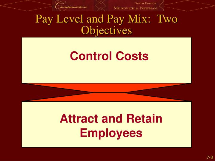 Pay Level and Pay Mix:  Two Objectives