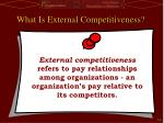 what is external competitiveness