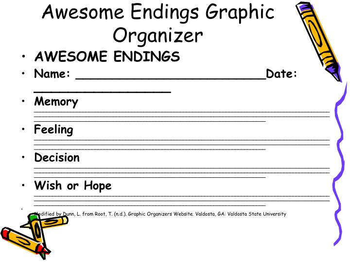 Awesome Endings Graphic Organizer