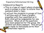 expository informational writing