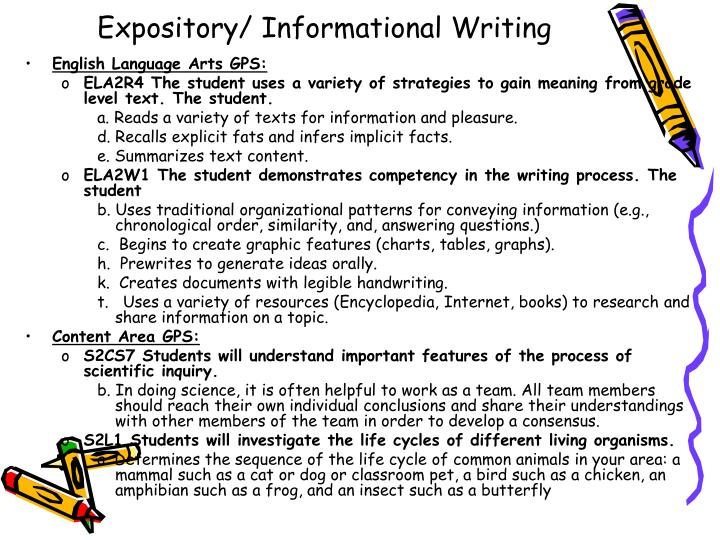 Expository/ Informational Writing
