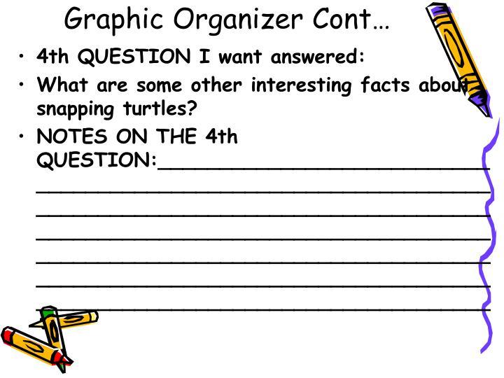 Graphic Organizer Cont…