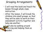 grouping arrangements