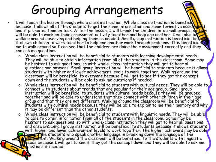 Grouping Arrangements