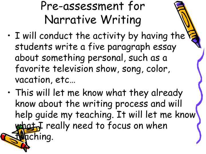 Pre-assessment for Narrative Writing