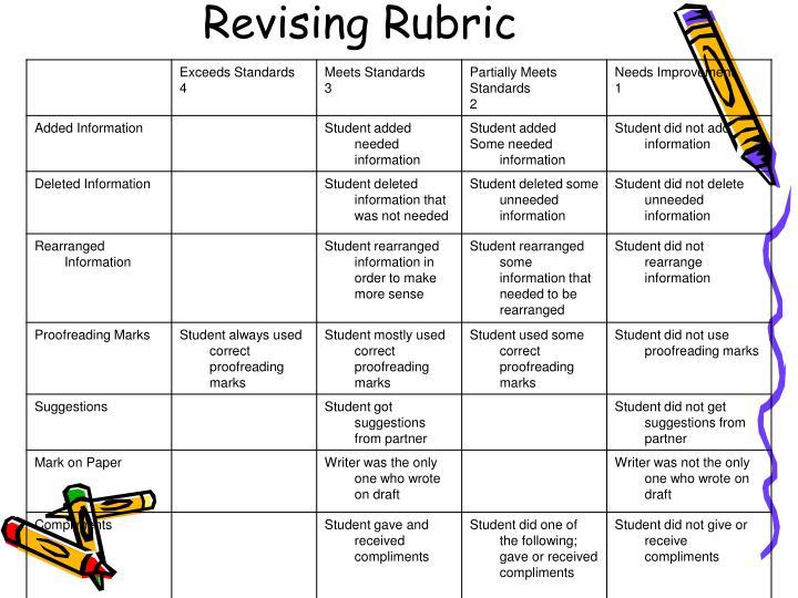 Revising Rubric