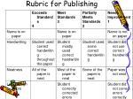 rubric for publishing